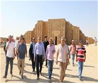 صور| وزير الآثار يتابع مشروع ترميم هرم زوسر المدرج تمهيداً لافتتاحه قريبًا