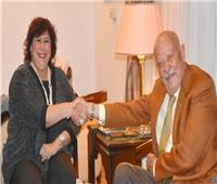 وزير الثقافة تبحث مع رئيس مؤسسة بنديتى الايطالية سبل تعزيز التعاون الفكرى والفنى