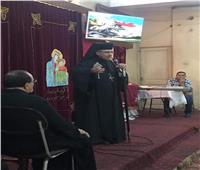 مطران سوهاج يزور كنيسة مارجرجس بساحل طهطا