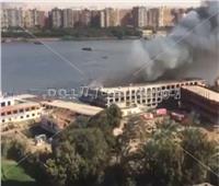 الدفع بـ7 سيارات إطفاء للسيطرة على حريق سفينة الحوامدية