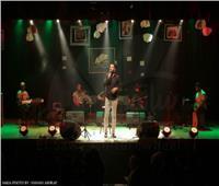صور| محمد الكافوري في حفل موسيقى بمسرح الساقية