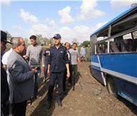 مدير أمن الغربية يشرف على نقل ضحايا أتوبيس نقل الركاب للمستشفى