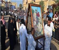 الآف الأقباط يحتفلون بعيد «الشهيد مارجرجس» بالرزيقات