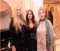 صور| فادية عبد الغني و«الشقنقيري» و«كاريكا» في «كوليكشن» شقيقة عامر منيب