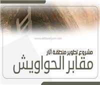 انفوجراف| أبرز محطات تطوير مقابر الحواويش بسوهاج