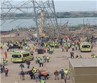 الاستماع لأقوال شهود العيان في واقعة سقوط برج كهرباء بأوسيم