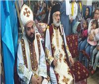 الأنبا باسليوس يزور كنيسة العذراء مريم بالجزازره بسوهاج