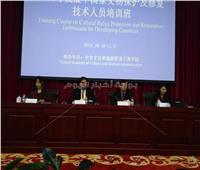 عبد البصير يلقي محاضرة عن آثار مصر في الصين
