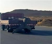 غضب عارم بعد ظهور القرش «بهلول» على سيارة نقل بطريق السويس