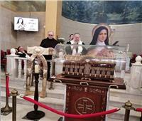 وصول رفات القديسه تريزا إلى كنيسة سانت فاتيما بمصر الجديدة