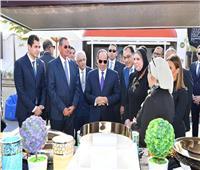 شاهد| الرئيس السيسي يتفقد معارض صندوق تحيا مصر ويستقبل وزير الخارجية المغربي