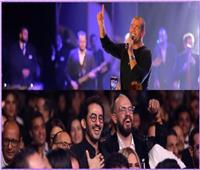 كلمات رائعة من أحمد حلمي على حفل عمرو دياب بمهرجان القاهرة.. و«الهضبة» يرد