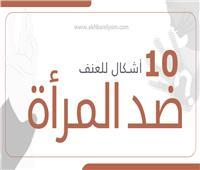 إنفوجراف  10 أشكال للعنف ضد المرأة
