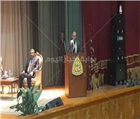 بدء محاضرة رئيس مكتب الرقابة الإدارية بالشرقية في جامعة الزقازيق