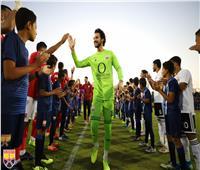صور| ممر شرفي لأبطال المنتخب الأولمبي من الأهلي والجونة