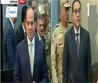 فيديو| السيسي يتفقد أنفاق 3 يوليو وغرفة التحكم الرئيسية جنوب بورسعيد