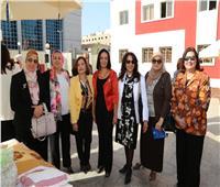 مايا مرسي تلتقي زوجات السفراء بمناسبة حملة مناهضة العنف ضد المرأة