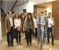 وزيرة الثقافة تتابع تجهيزات المبنى الجديد لمعهد السينما