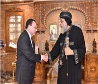 البابا تواضروس يستقبل سفير مصربأستراليا