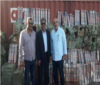 صور| إحباط محاولة تهريب 18 طن ألعاب نارية بميناء الإسكندرية
