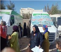 توقيع الكشف الطبي على 1630 حالة بقرية دير البرشا في المنيا