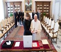 البابا فرنسيس يستقبل رئيسة جمهورية استونيا