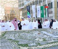 صور| محمد بن سلمان يطلع على جناح المملكة بـ «إكسبو 2020»