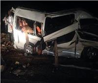 إصابة ١٤ شخصا اثر انقلاب ميكروباص بإقليمي المنوفية