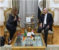 وزير الإنتاج الحربي يشيد بجهود سفيرة البرتغال أثناء توليها لمنصبها بمصر
