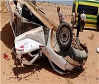 إصابة 9 عمال في حادث بالطريق الصحراوي ببني سويف