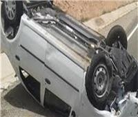 إصابة ٥ أشخاص أثر انقلاب سيارة ملاكي بالطريق الزراعي بالبحيرة