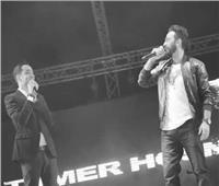 لأول مرة.. تامر حسني ورامي جمال في حفل رأس السنة