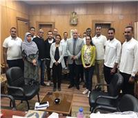 أتوبيس تسجيل التأمين الصحي يصل ديوان محافظة الأقصر