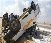 إصابة 14 شخصا بينهم 3 أطفال في انقلاب سيارة ربع نقل بالدقهلية