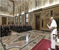 البابا فرنسيس يستقبل وفدا من الصندوق الوطني الإيطالي لكُتاب العدل