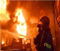 حريق هائل بمصنع للمنتجات الورقية بالمنطقة الصناعية ببلبيس