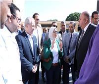 وزيرة الصحة تتفقد أعمال رفع كفاءة مستشفى الأقصر العام