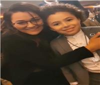 راندا البحيري تشارك ياسين أمير فرحته في مهرجان «نجم العرب»
