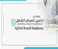 إنفوجراف| مقارنة بين التأمين الصحي الشامل والجديد ومنظومة الصحة الحالية