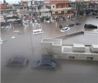 صور.. لبنان يغرق| سيول بالمنازل والأمطار تختلط بالصرف الصحي
