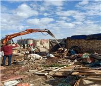 إزالة 13 ألف متر تعديات على أراضي الدولة بالإسكندرية