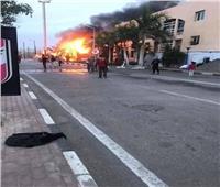 صور| اندلاع حريق بالنادي الأهلي في الشيخ زايد