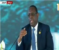 فيديو| رئيس السنغال: نحتاج لكل القوى الممكنة لمواجهة الإرهاب
