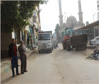 حملات للنظافة والتجميل بشوارع مركز مطاي بالمنيا