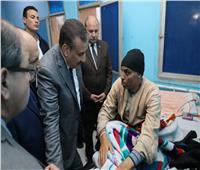 جولة مفاجئة لمحافظ المنوفيةبمستشفى الشهداء.. وفسخ التعاقد مع شركة النظافة