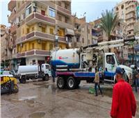 محافظ المنوفية يوجه بشفط تجمعات الأمطار من الشوارع