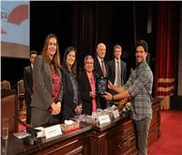 أحمد مجدي يشارك في حملة 16 يوما لمناهضة العنف ضد المرأة بجامعة القاهرة