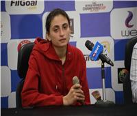 هاجر عامر لاعبة سبورتنج: أتمنى وصول الأهلي للنهائي