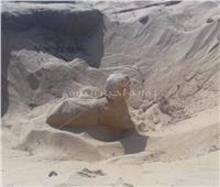 وزارة الآثار: العثور على تمثال ملكي علي هيئة ابو الهول بتونا الجبل