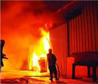 حريق هائل بمصنع للسجاد بمدينة العاشر من رمضان